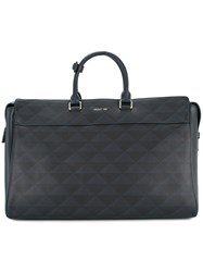 Cerruti 1881 Geometric Print Structured Briefcase Blue