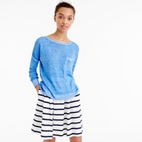 J.Crew Cool Dyed Linen Pocket Crewneck Sweater