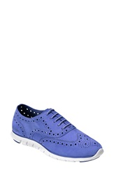 Cole Haan 'Zerogrand' Perforated Oxford Women Wedgewood Suede
