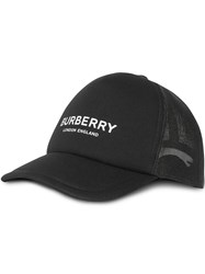 Burberry Logo Print Baseball Cap Black