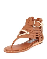 Ivy Kirzhner Bellatrix Vachetta Leather Sandal Cognac