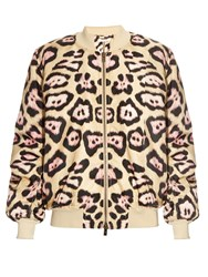 Givenchy Leopard Print Padded Bomber Jacket