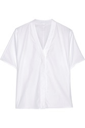 Adam By Adam Lippes Cotton Poplin Top White