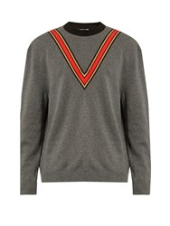 Stella Mccartney V Applique Crew Neck Sweater Grey