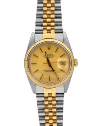 Rolex Pre Owned 36Mm Oyster Perpetual Datejust Two Tone Watch