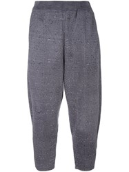 Boboutic Loose Fit Cropped Trousers Grey