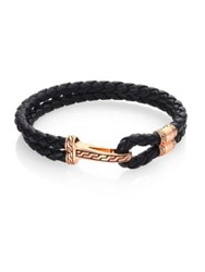John Hardy Classic Chain Collection Leather And Bronze Bracelet No Color