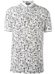 Dolce And Gabbana Musical Instrument Print Polo Shirt White