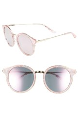 Juicy Couture 52Mm Round Sunglasses Pink Gold Pink Gold