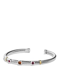 David Yurman Renaissance Bracelet With Citrine And Gold Silver Yellow Gold
