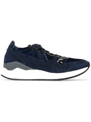 Cesare Paciotti 4Us Panelled Sneakers Blue
