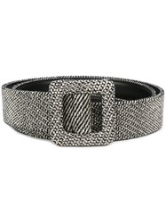Ermanno Scervino Metallic Effect Belt Black