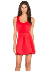 Lovers Friends X Revolve Flawless Fit And Flare Dress Red