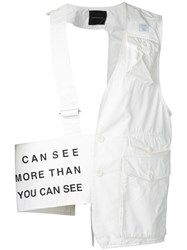 Undercover Utility Pocket Vest Men Cotton 2 White