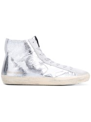Golden Goose Deluxe Brand Francy High Top Sneakers Metallic