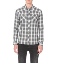 Allsaints Spokane Regular Fit Cotton Shirt Grey