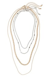 Bp. 4 Pack Chain Necklaces Gold Silver