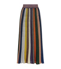 Missoni Pleated Glitter Midi Skirt Female Multi