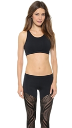 Solow Lace Back Sports Bra Black