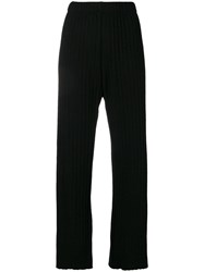 Simon Miller Straight Pleated Trousers Black