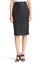 Rebecca Taylor Women's Faux Leather Pencil Skirt