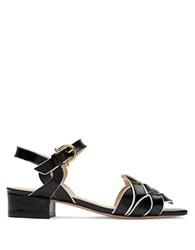Etienne Aigner Ella Leather Knotted Sandals Black