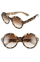 Kate Spade Women's New York 'Khriss' 52Mm Round Sunglasses Havana Honey Glitter Havana Honey Glitter