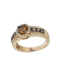 Le Vian Chocolatier Vanilla Diamond Chocolate Diamond And 14K Honey Gold Ring Brown