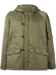 Saint Laurent Bomber Parka Coat Green