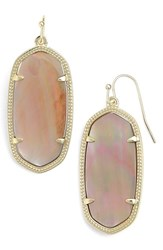 Kendra Scott Women's 'Elle' Drop Earrings Brown Mother Of Pearl Gold