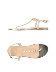Malo Thong Sandals Ivory