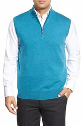 Men's Peter Millar Quarter Zip Merino Wool Vest Rapids