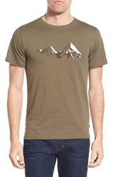 Fjall Raven Men's Fj Llr Ven 'Classic Mountain' Graphic Crewneck T Shirt Tarmac