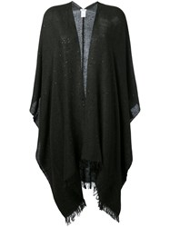 Brunello Cucinelli Knitted Sequin Cape Grey