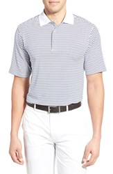 Men's Bobby Jones 'Edge Stripe Xh20' Stretch Golf Polo White