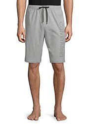 Calvin Klein Logo Sleep Shorts Grey