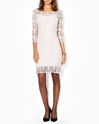 Lauren Ralph Lauren Petites Dress Boat Neck Lace Peony