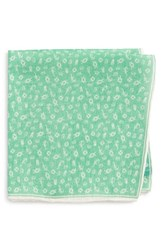 Southern Tide Maritime Skipjack Cotton And Silk Pocket Square Mint