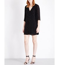 Alice Olivia And Shary Embroidered Kaftan Black