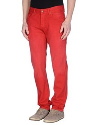 7 For All Mankind Casual Pants Red