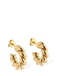 Isabel Lennse 6Mm Twisted Loop Hoop Earrings Gold