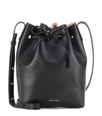 Mansur Gavriel Mini Bucket Leather Crossbody Bag Black