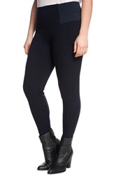 Plus Size Women's Eloquii 'Miracle Flawless' Paneled Leggings Black