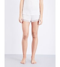 Eberjey Leila Jersey And Lace Shorts Angora