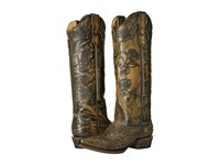 Stetson Flora Tan Burnished Black Women's Boots