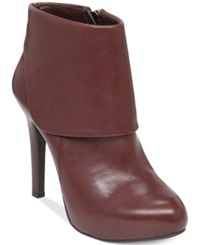 Jessica Simpson Addey Cuffed Dress Booties Women's Shoes Chocolate Leather