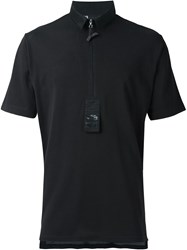 Y 3 Zipped Polo Shirt Black