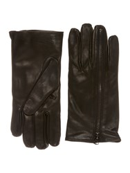 Replay Leather Gloves Black