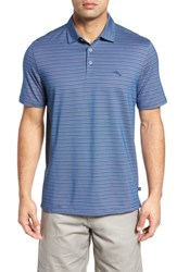 d417bb502 Tommy Bahama Men's Big And Tall New On Par Stripe Polo Bering Blue