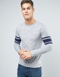 Esprit Long Sleeve Top With Arm Stripe Grey 445